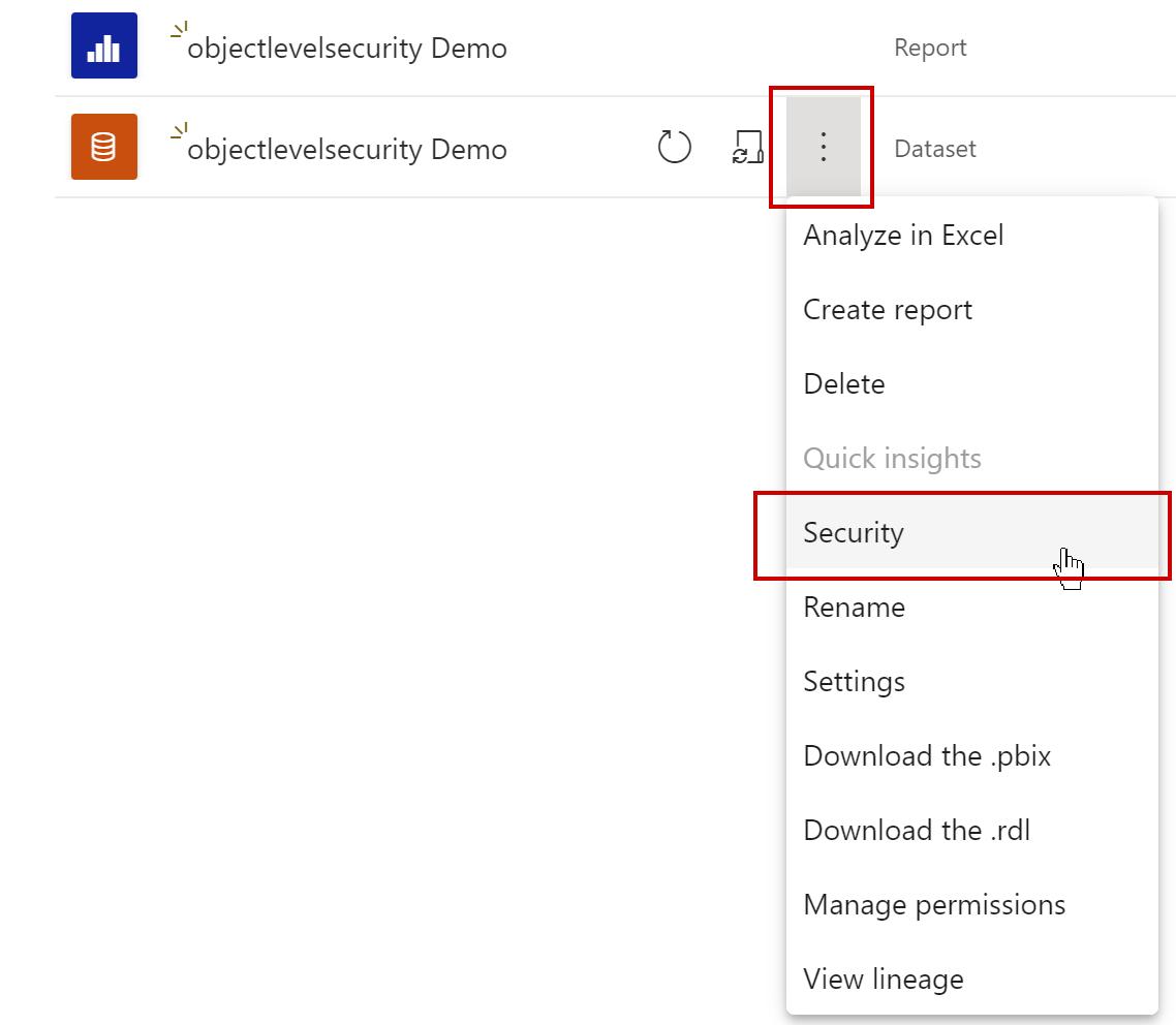 Dataset settings