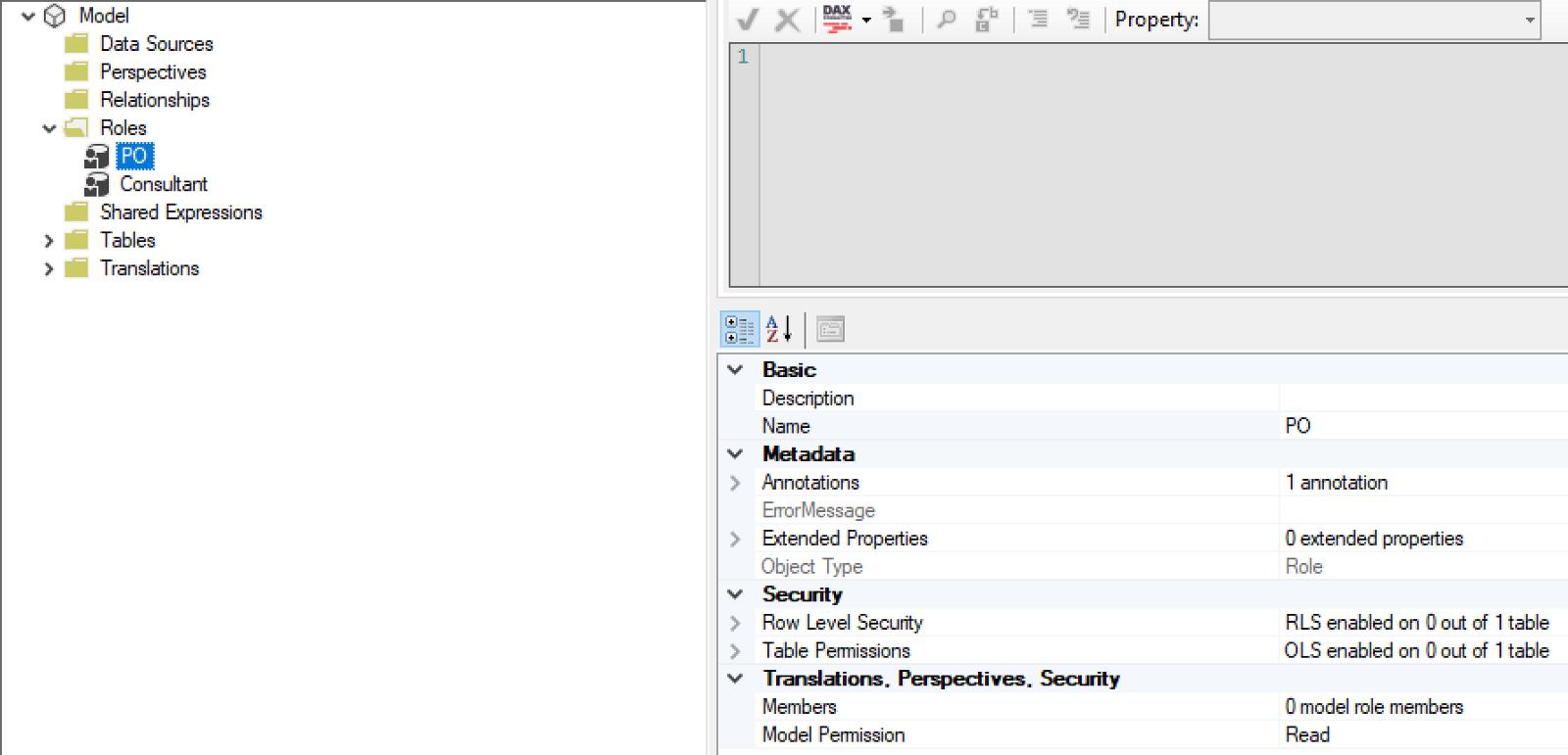 Security settings in Tabular Editor
