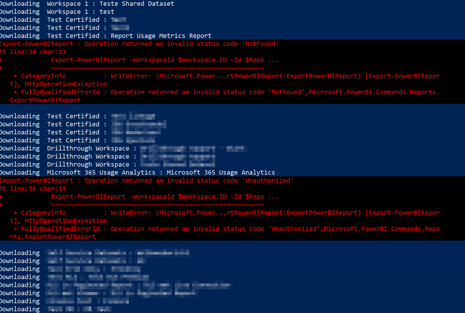 Downloading notification in PowerShell